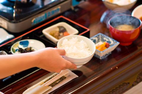 Japanese breakfast rice